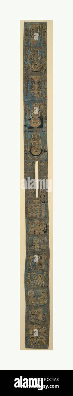Batrashil, 1336, attribué à la Syrie, la soie soutenu avec de lourdes , H. 55 in. (139. 7 cm), Textiles-Costumes, cette république Banque D'Images