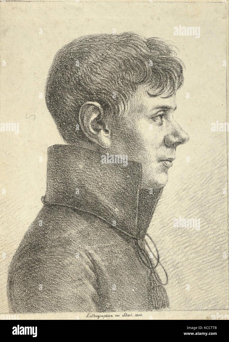 695714efe1f8d Dessins et estampes, Print, Portrait d'un jeune homme de profil, artiste