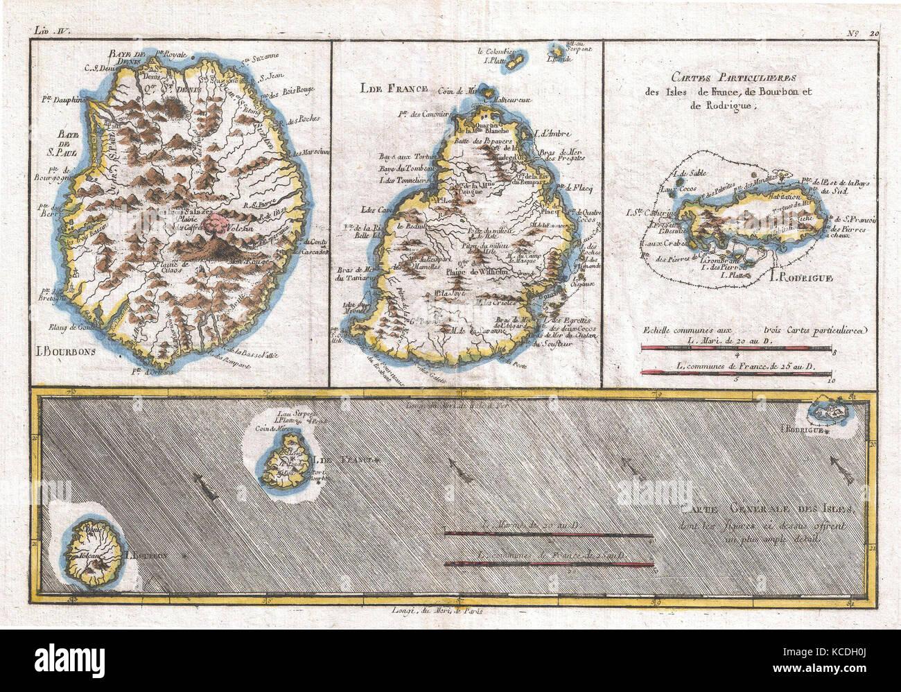 Carte Reunion Maurice.1780 Raynal Et Bonne Carte Des Mascareignes La Reunion