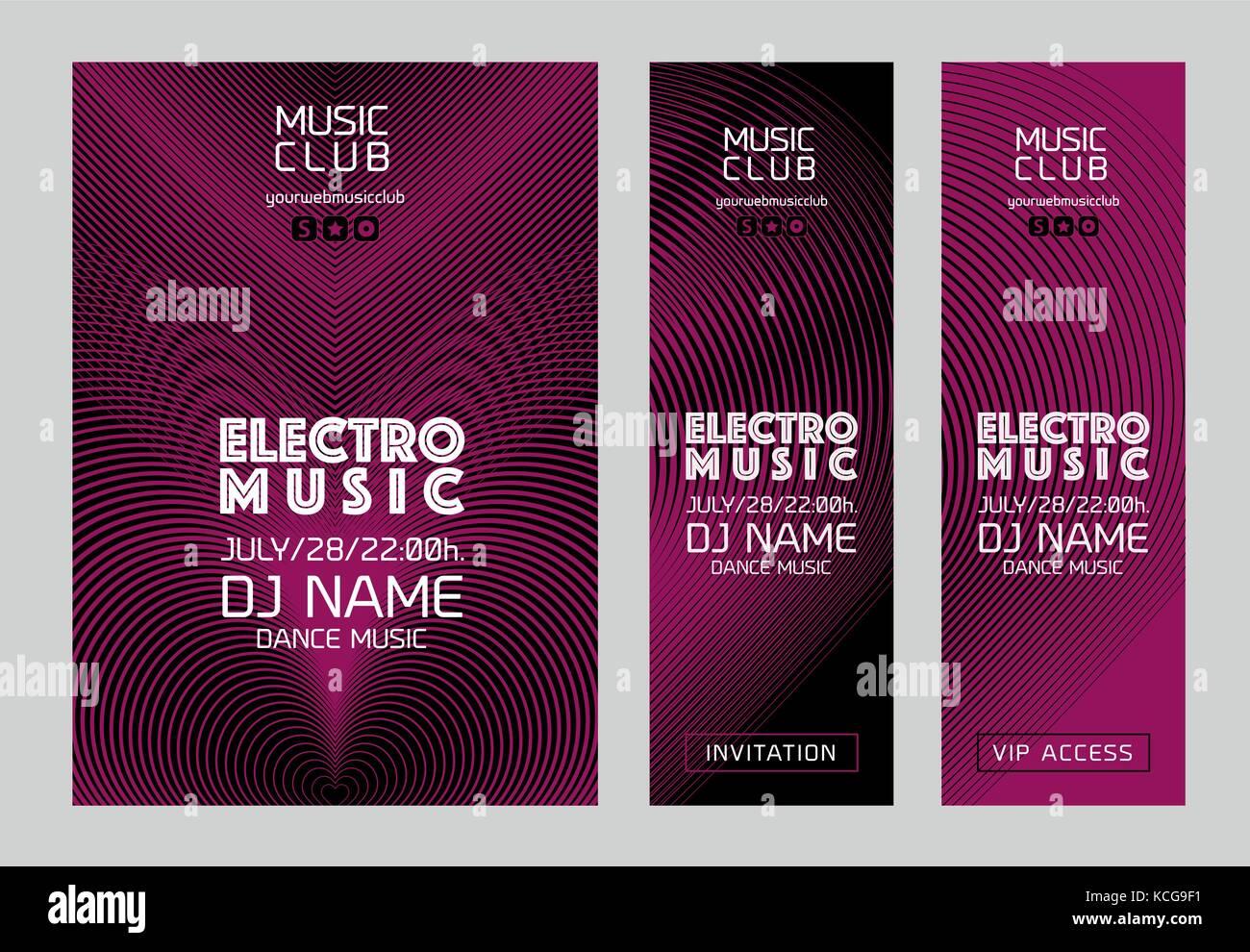 Modèle pour la conception de l'affiche de la musique électronique ou des bannières. Vector Photo Stock