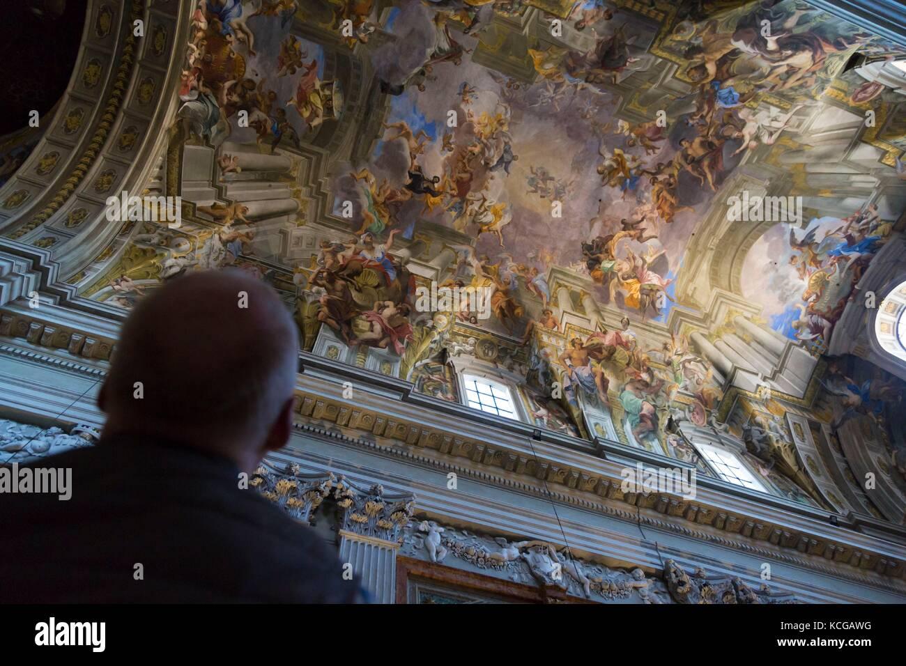Trompe L Oeil Fresque Au Plafond Par Andrea Pozzo Glise De Sant