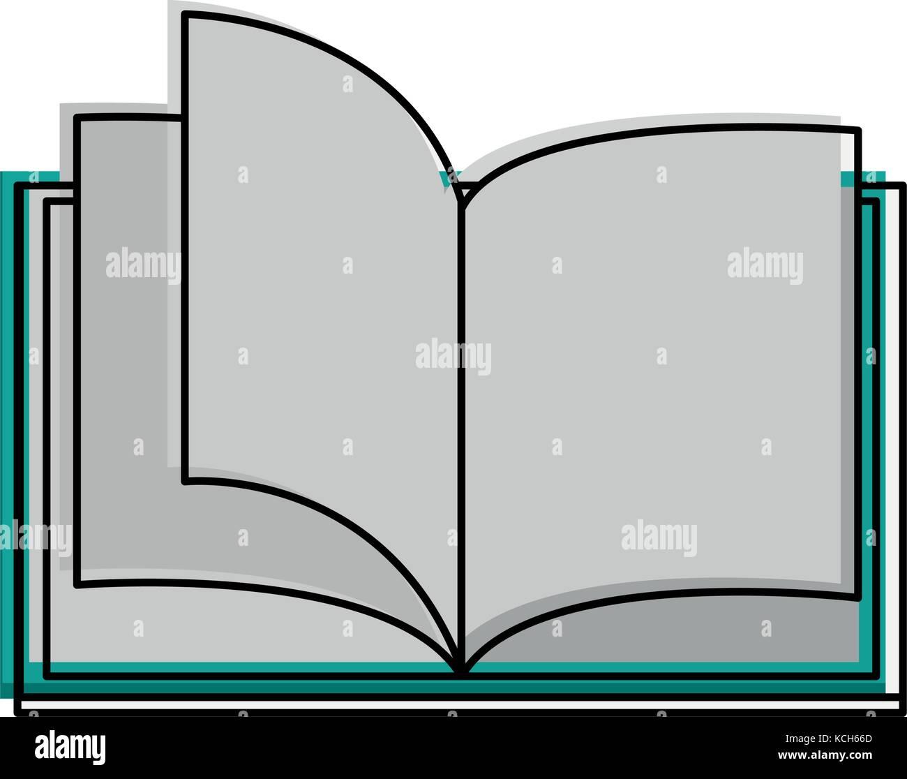 Livre ouvert avec les pages vierges de droit Illustration de Vecteur