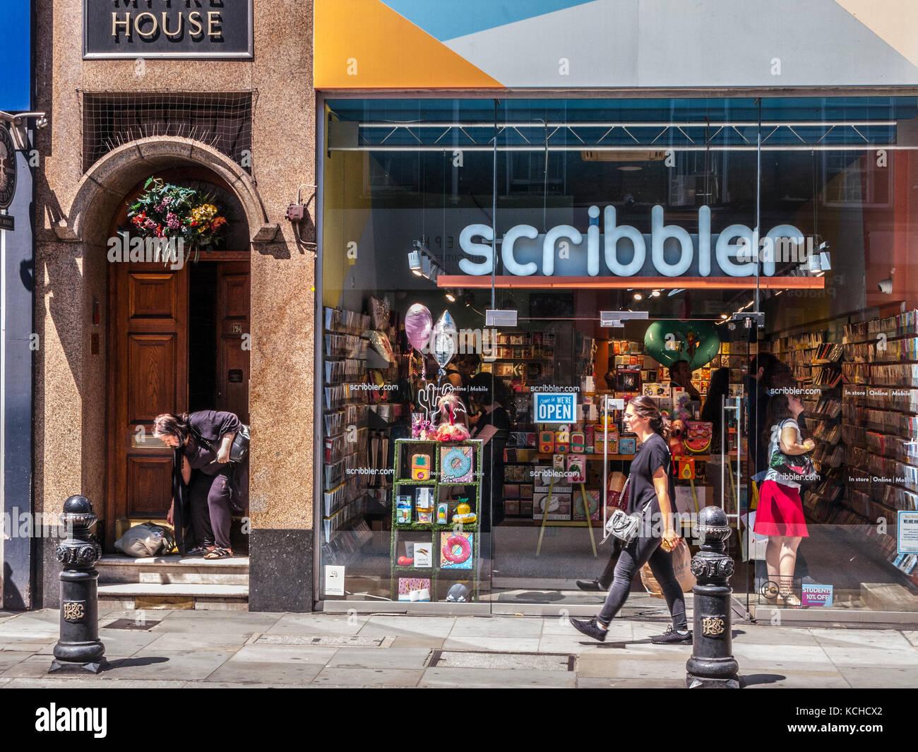 Scribbler, papeterie et cadeaux, Kings Road, London Photo Stock