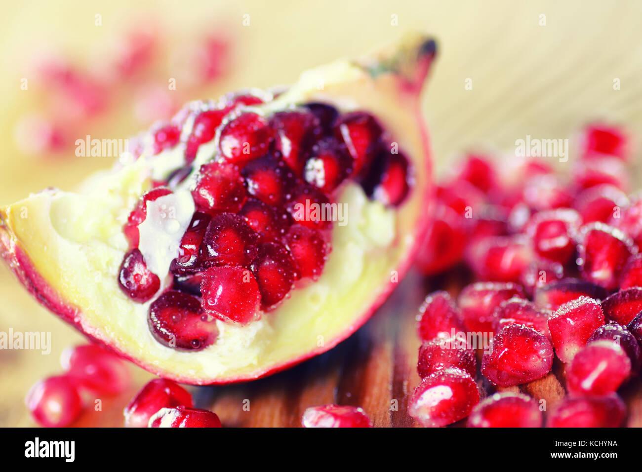 Fruits frais grenade rouge Photo Stock