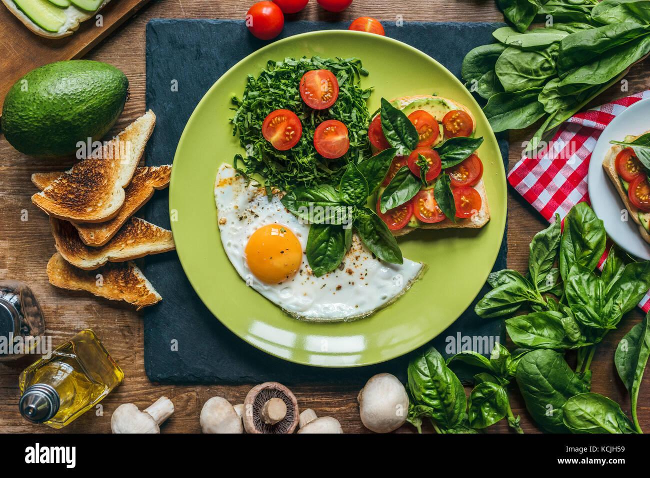Petit-déjeuner sain Photo Stock