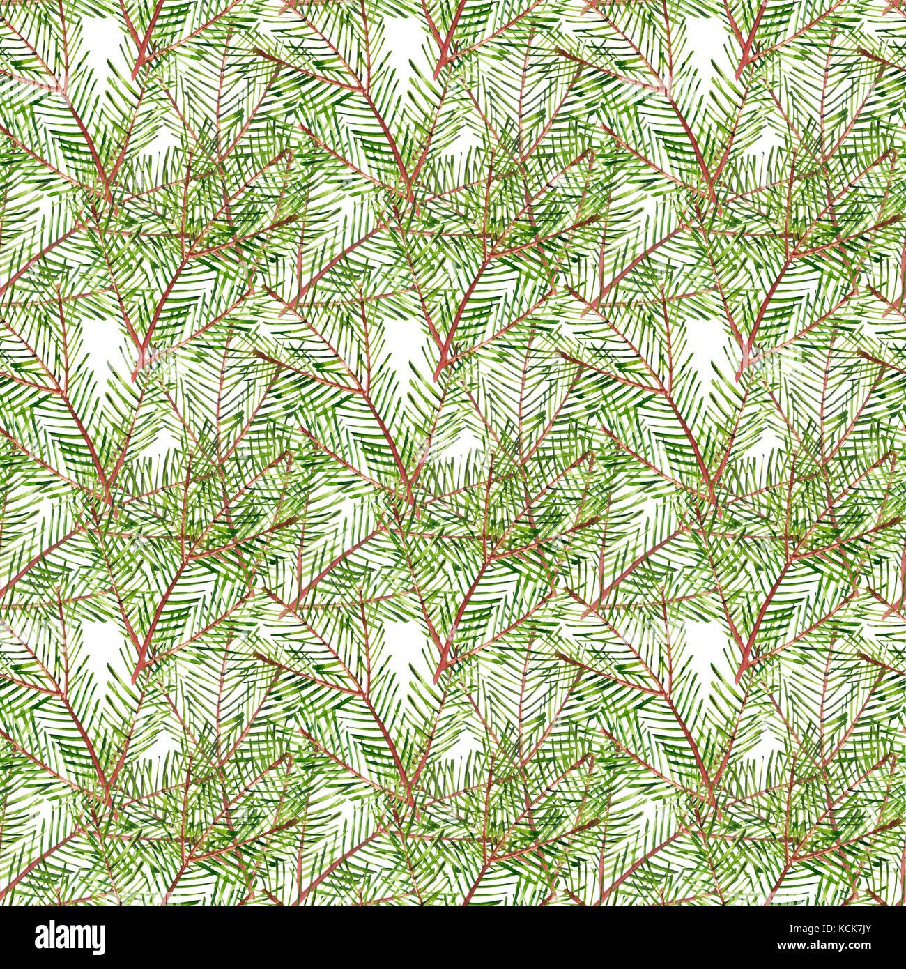 Branche D Arbre Sapin De Noel modèle logique des branches d'arbre de noël. aquarelle