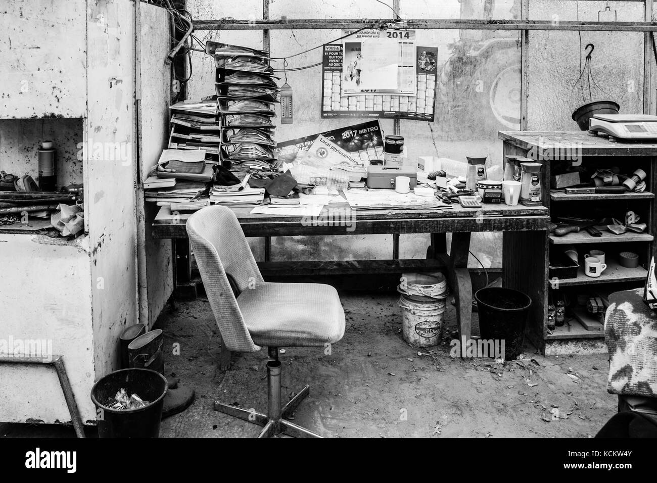 Lieu de travail: Office des émissions de Banque D'Images