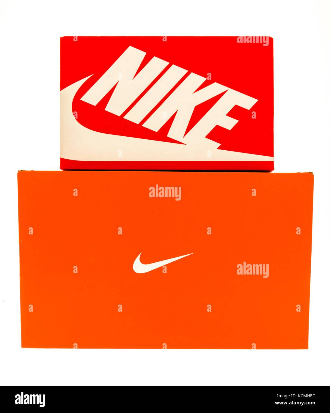 Winneconne, wi - 1 octobre 2017 : une paire de boîtes à chaussures ...