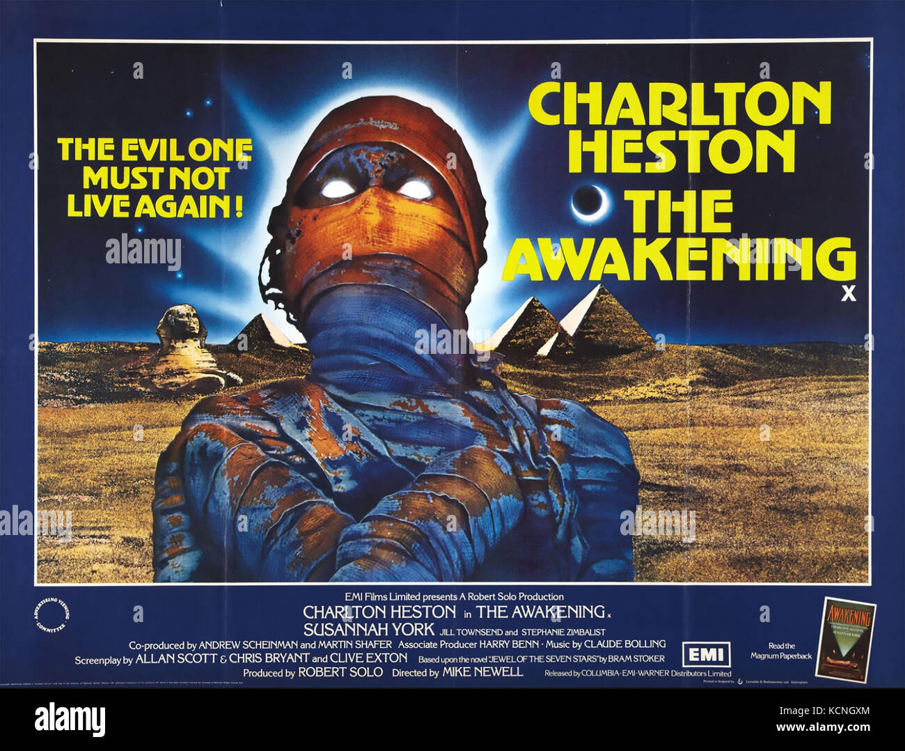 L'ÉVEIL 1980 Warner Bros horror film avec Charlton Heston Photo Stock