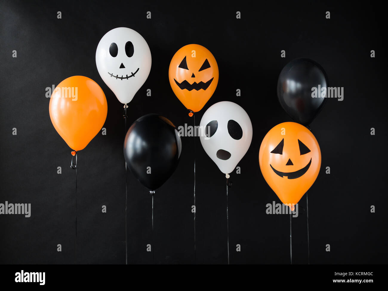 Décoration ballons air effrayant pour Halloween party Photo Stock
