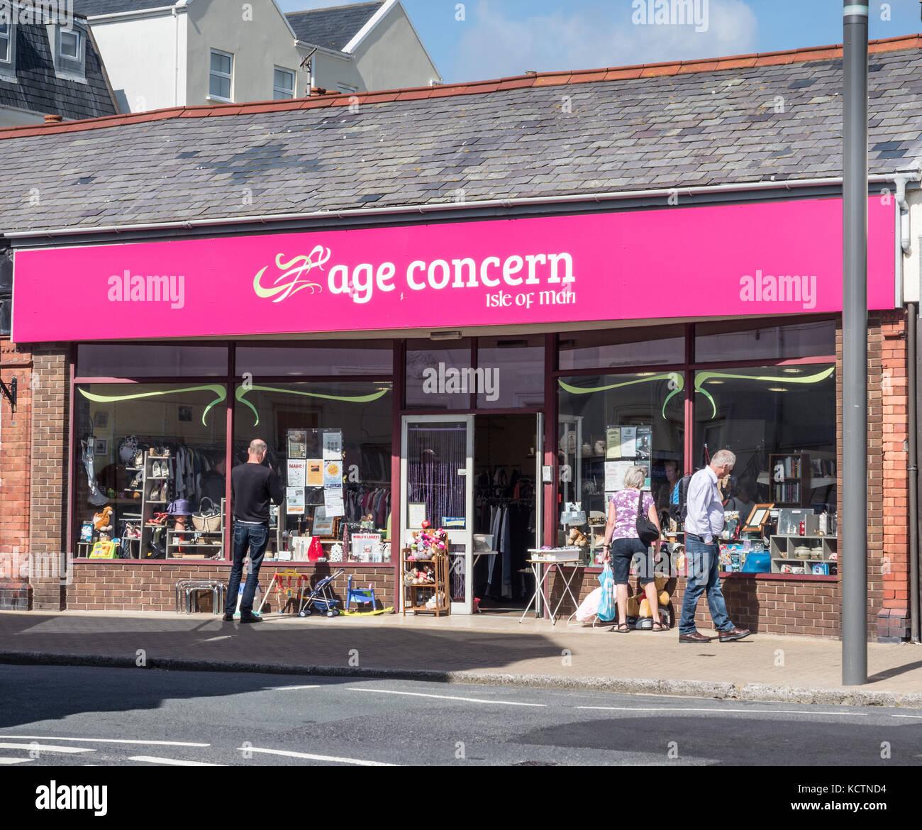 Age Concern shop, Port Erin (île de Man). Photo Stock
