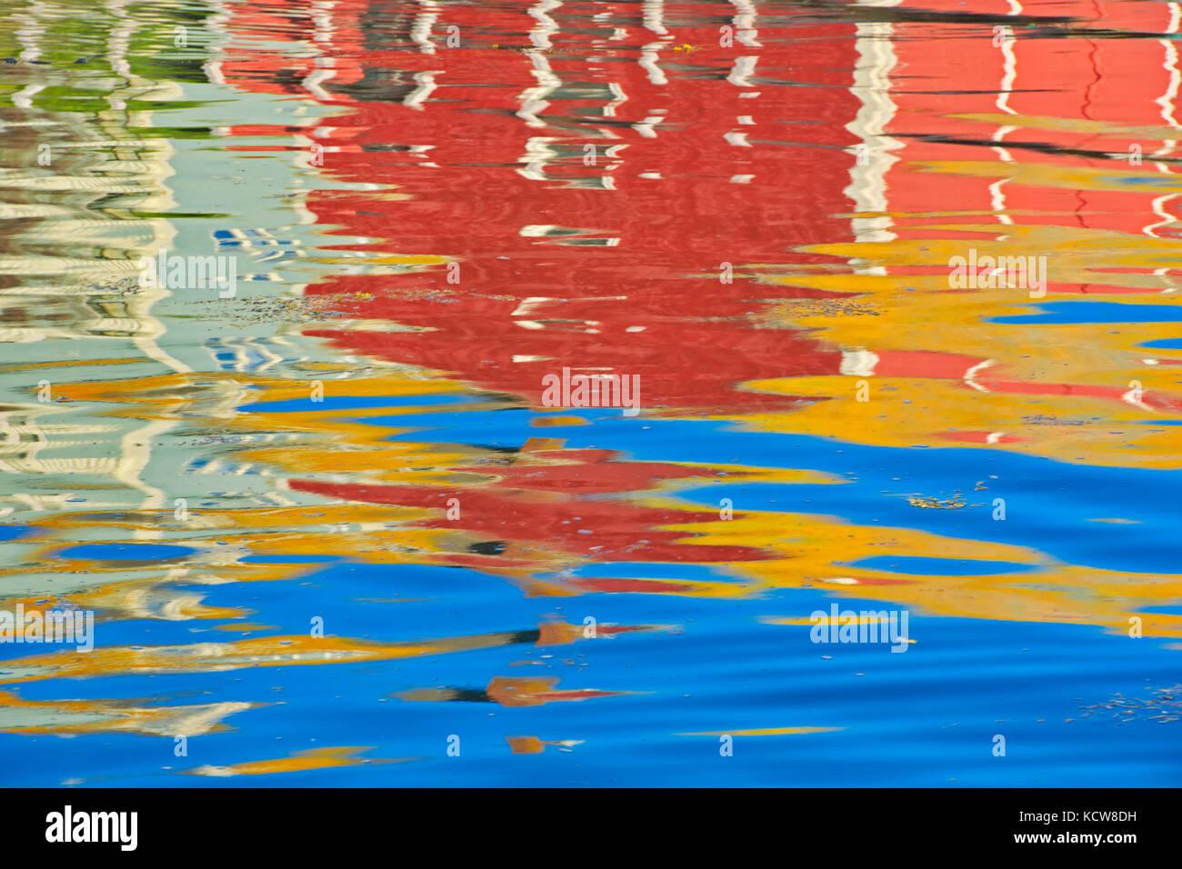 Reflet dans village de pêcheurs de Peggy's Cove, Peggy's Cove, Nova Scotia, canada Photo Stock