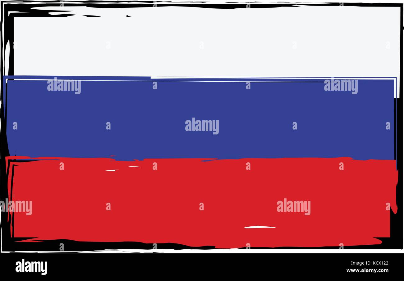 La Russie ou la bannière drapeau grunge vector illustration Illustration de Vecteur