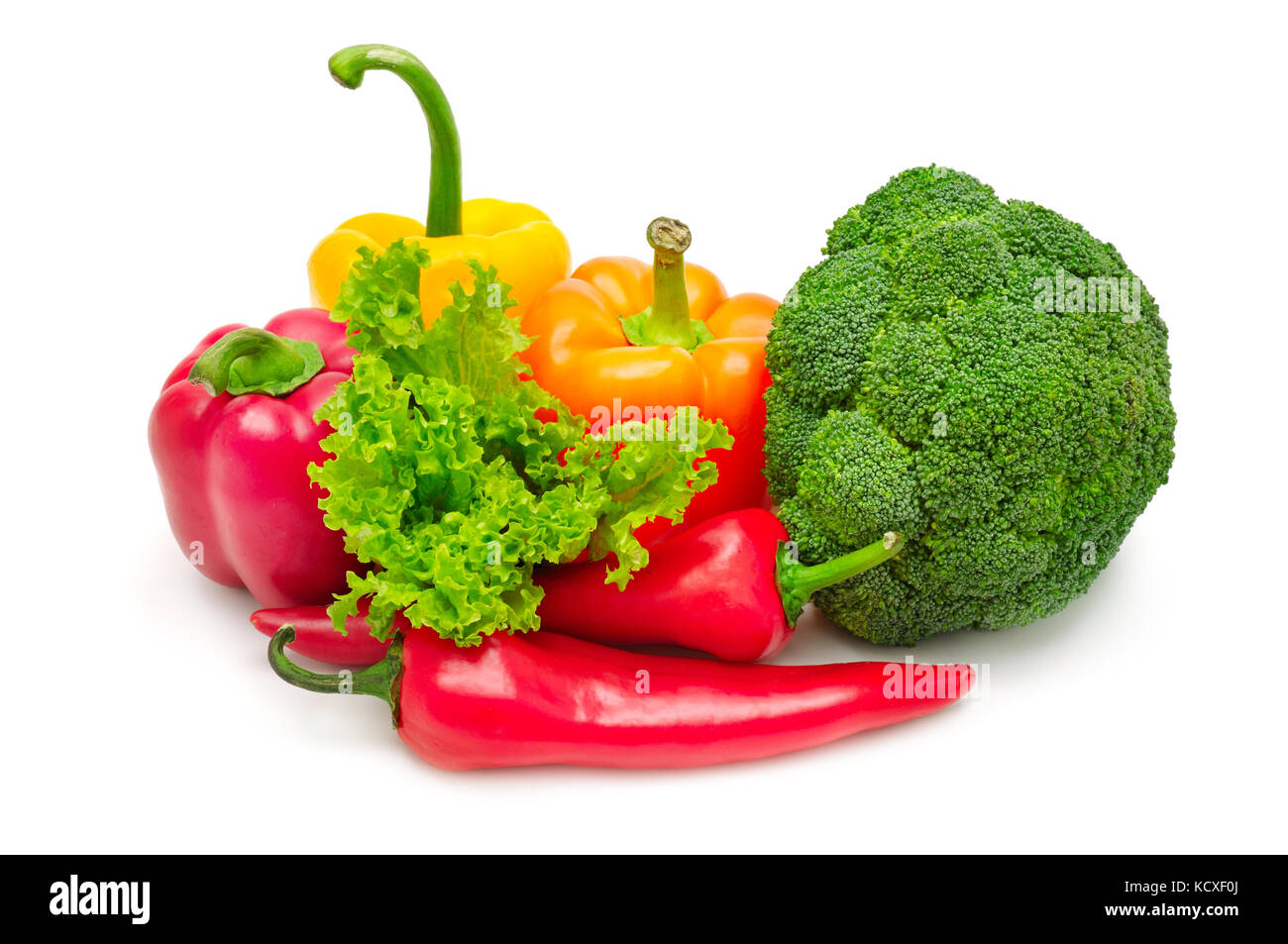 Légumes frais collection isolated on white Photo Stock