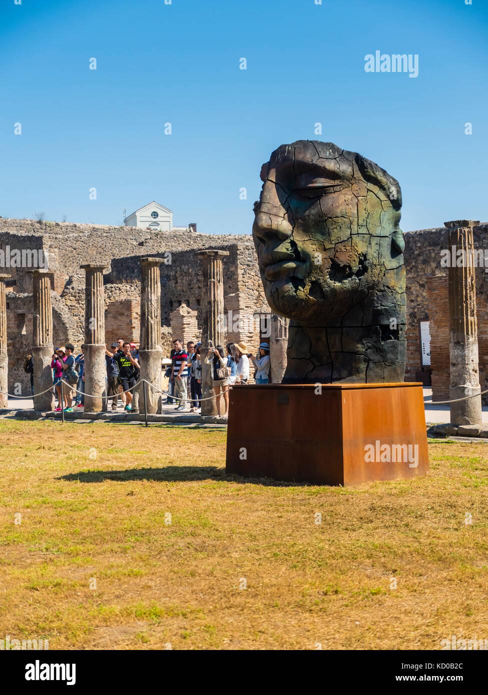 Ruines du temple de Pompéi, Naples, Campanie, Italie Banque D'Images