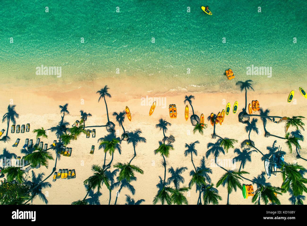 Vue aérienne de Caribbean resort, Punta Cana, République dominicaine Photo Stock