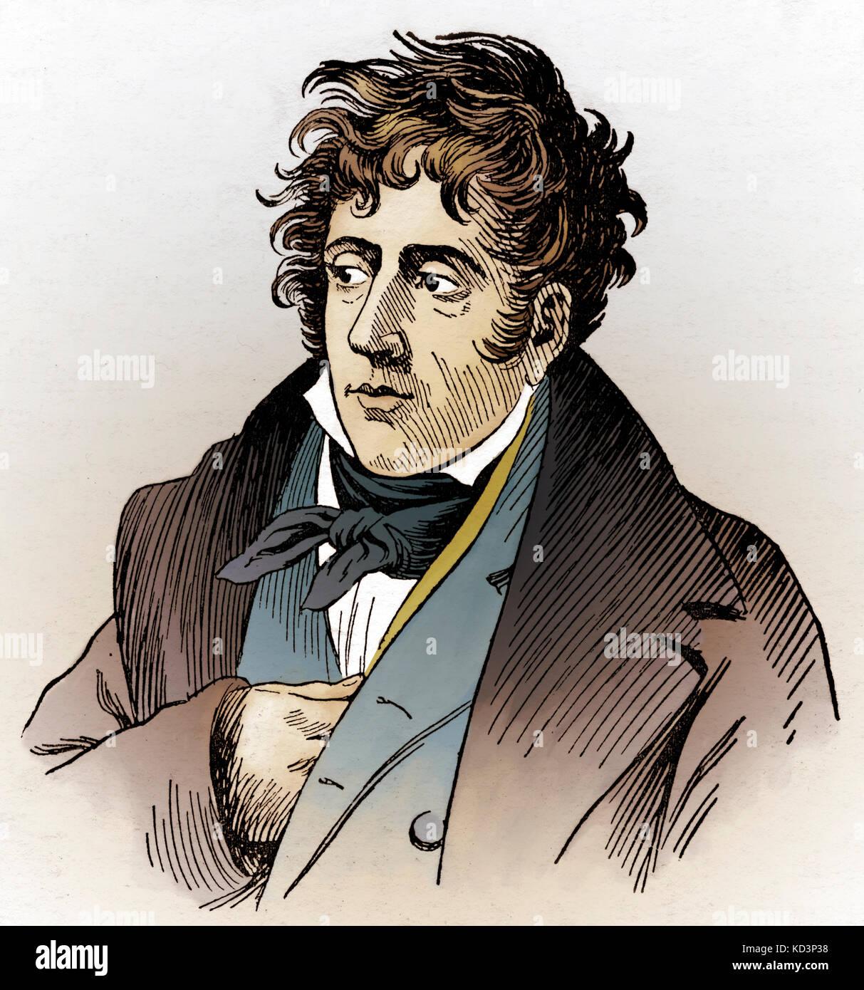 François René, Vicomte de Chateaubriand (4 septembre 1768 - 4 juillet 1848), écrivain, homme politique et diplomate Banque D'Images
