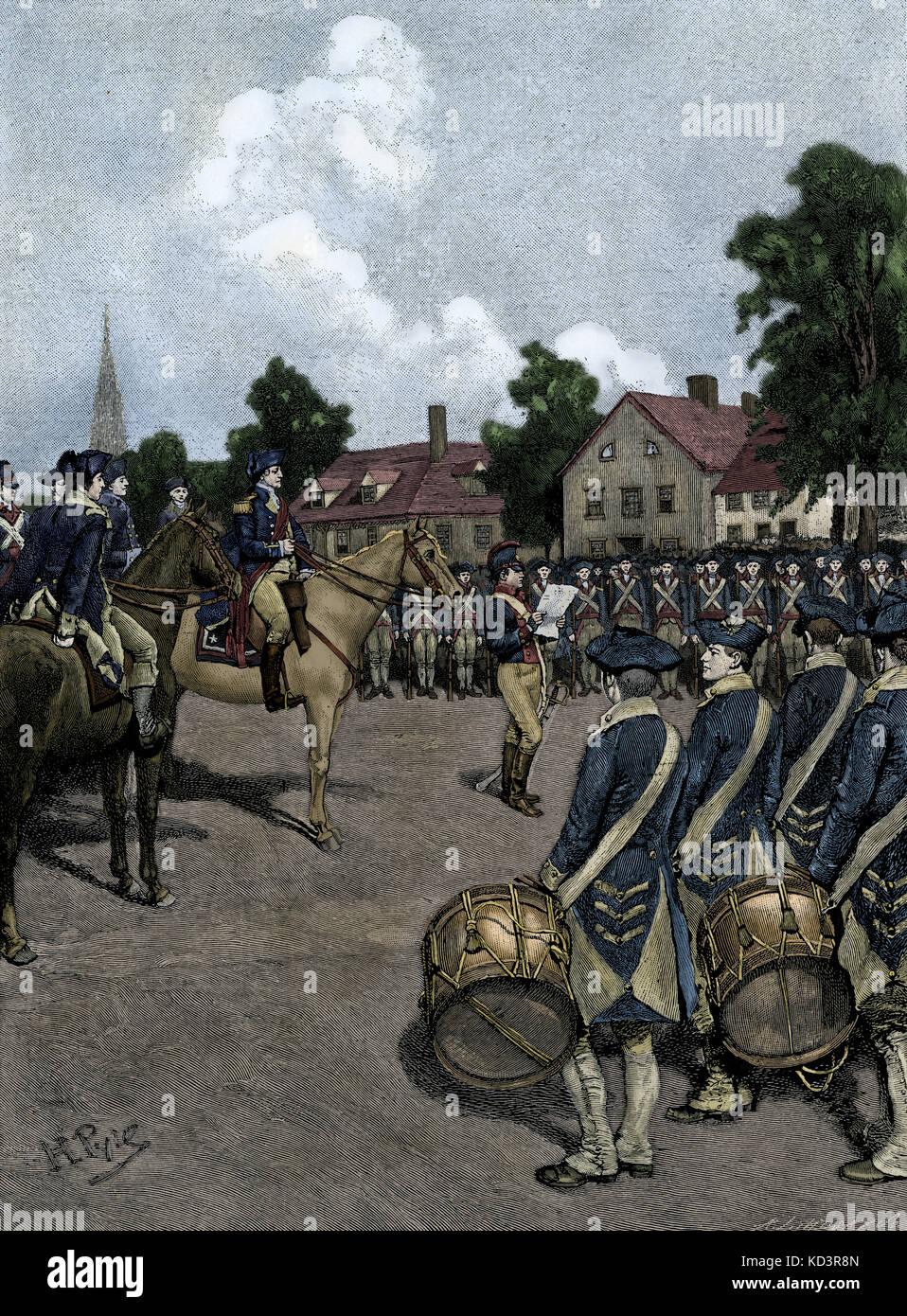 Déclaration d'indépendance annoncée à l'armée de Washington, New York, le 9 juillet 1776. Illustration de Howard Pyle, 1901 Banque D'Images