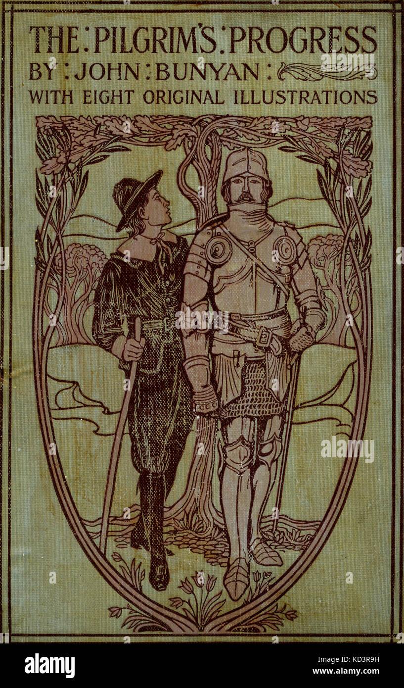 """Couvrir pour"""" le progrès du Pilgrim de ce monde à celui qui doit être livré sous la même similitude d'un rêve """" de John Bunyan. Illustration de Harold Copping. Banque D'Images"""