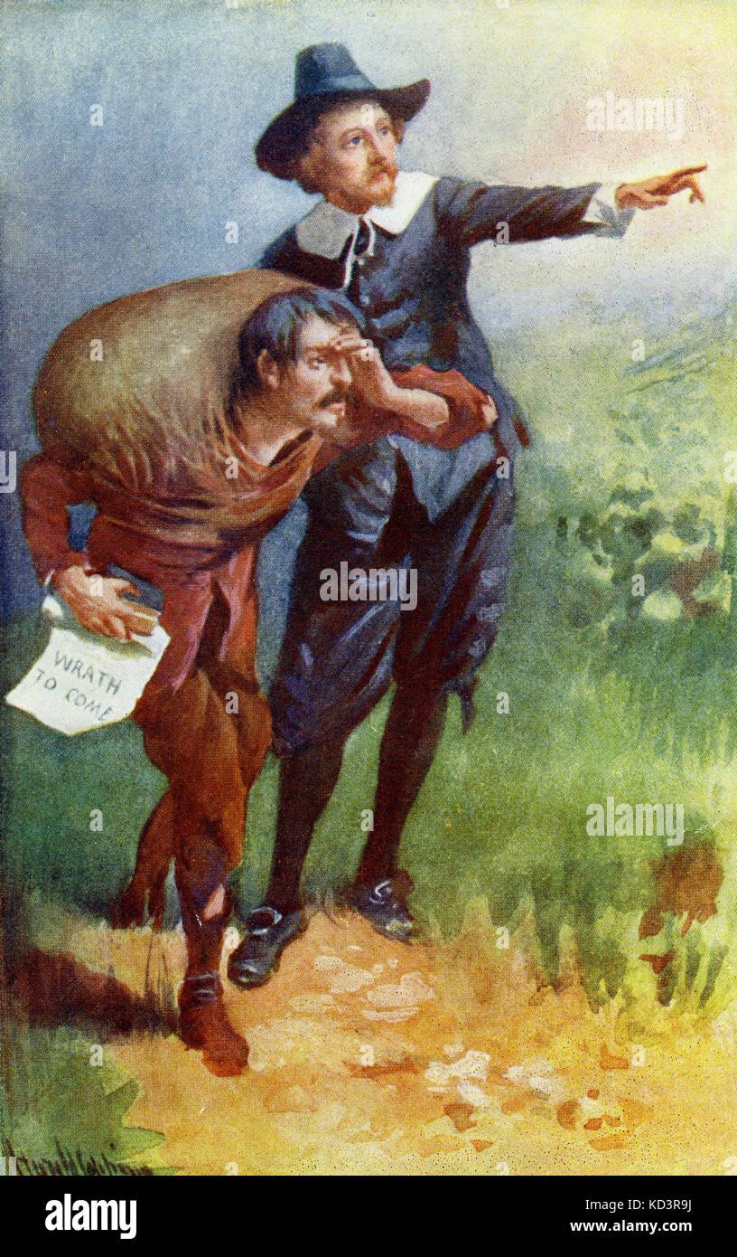 ' le progrès du Pilgrim de ce monde à celui qui doit venir sous la similitude d'un rêve ' par John Bunyan. Illustration de Harold Copping. Légende : « vous voyez la lumière brillante de yonder ? » Banque D'Images