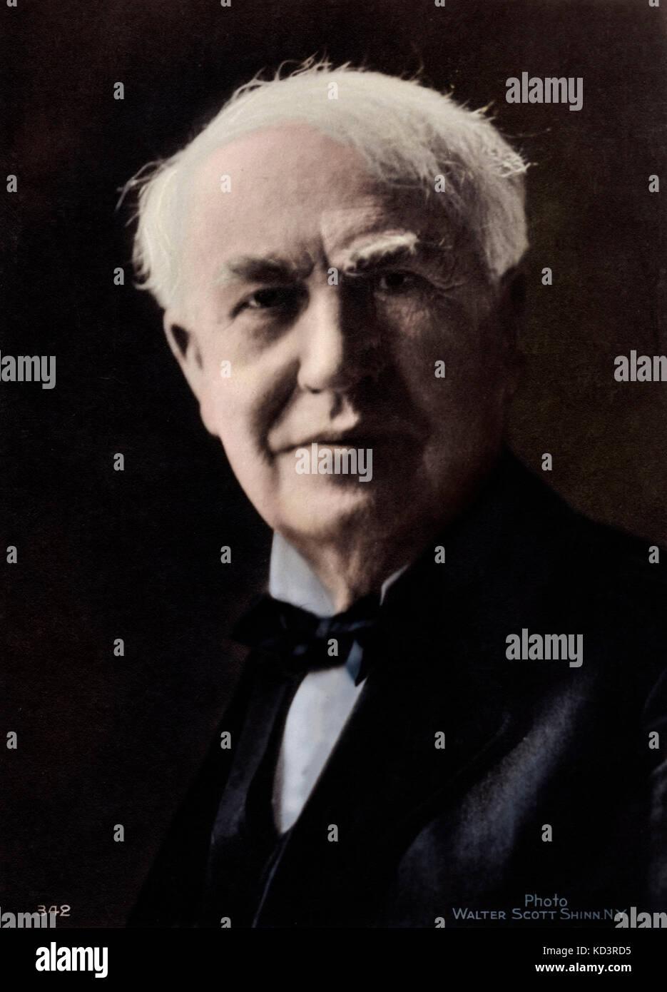 Thomas Alva Edison - inventeur américain, ingénieur et fabricant - 11 février 1847 - 18 octobre 1931 Banque D'Images