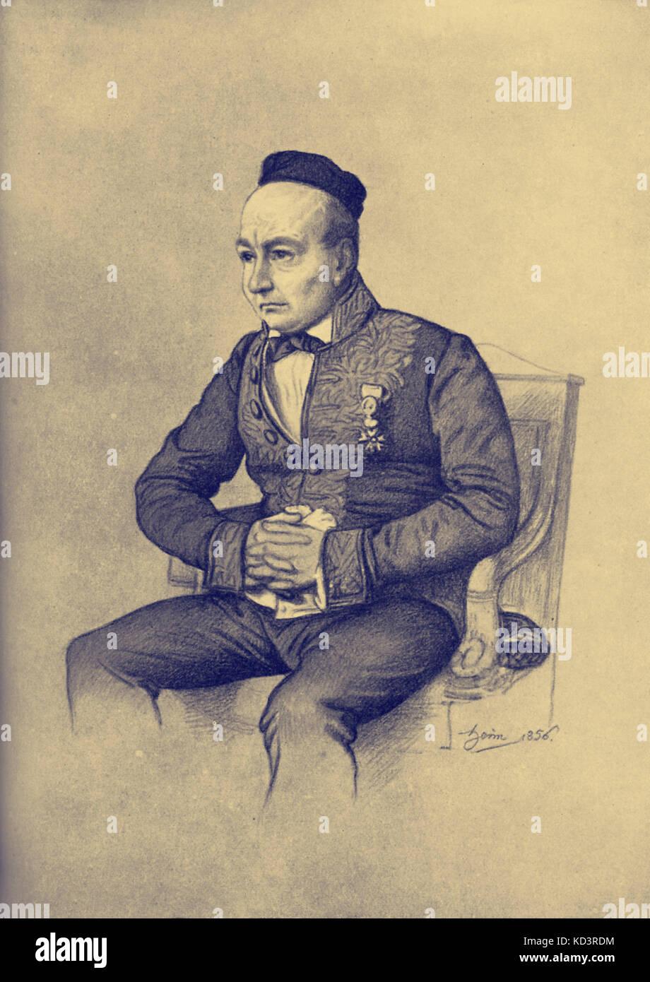 Sainte-Beuve Charles Augustin Sainte-Beuve. Critique littéraire français, 23 décembre 1804 - 13 octobre, 1869 Banque D'Images