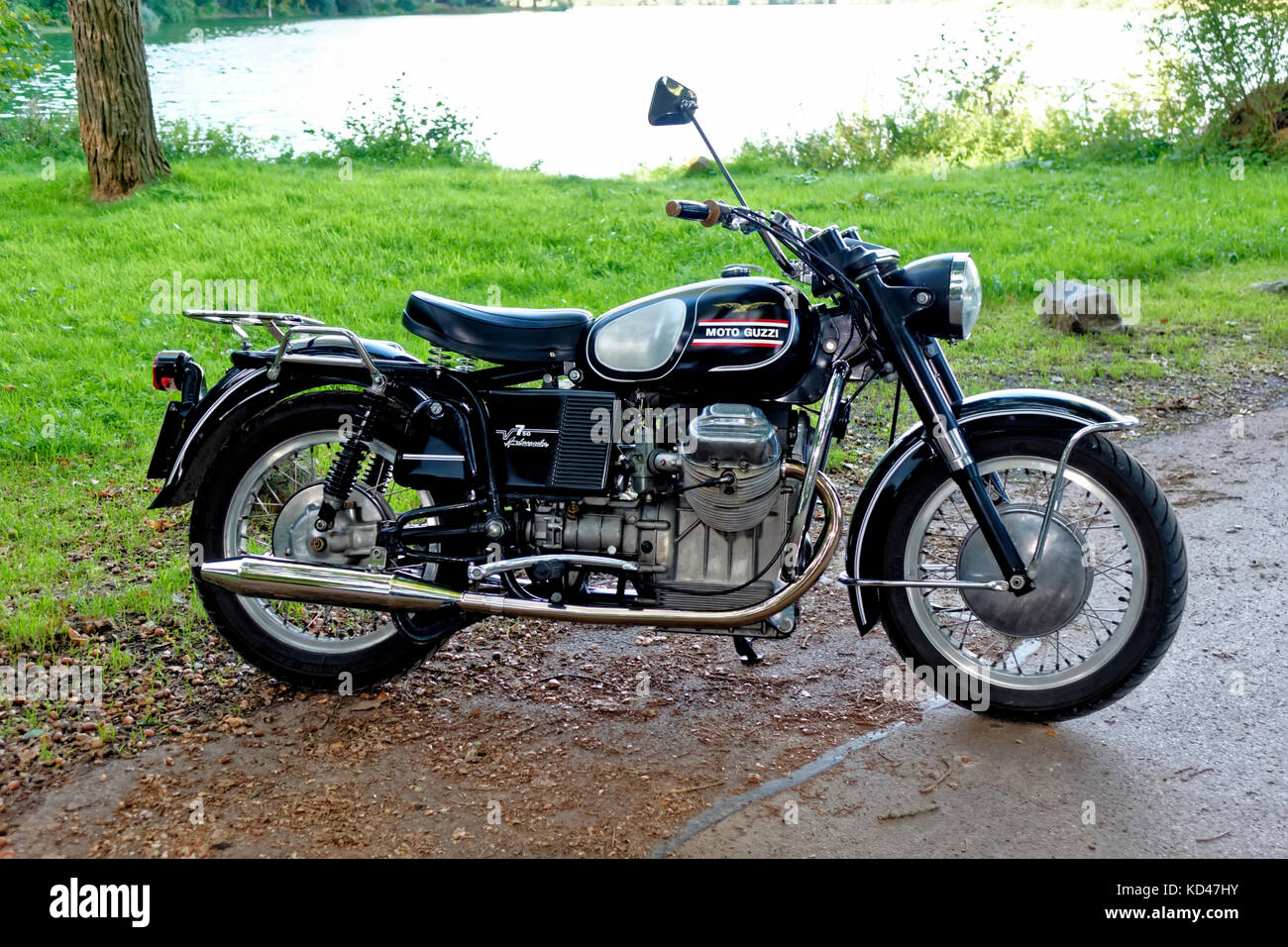 Une moto 1970 moto Guzzi V750 Ambassador Classic Banque D'Images