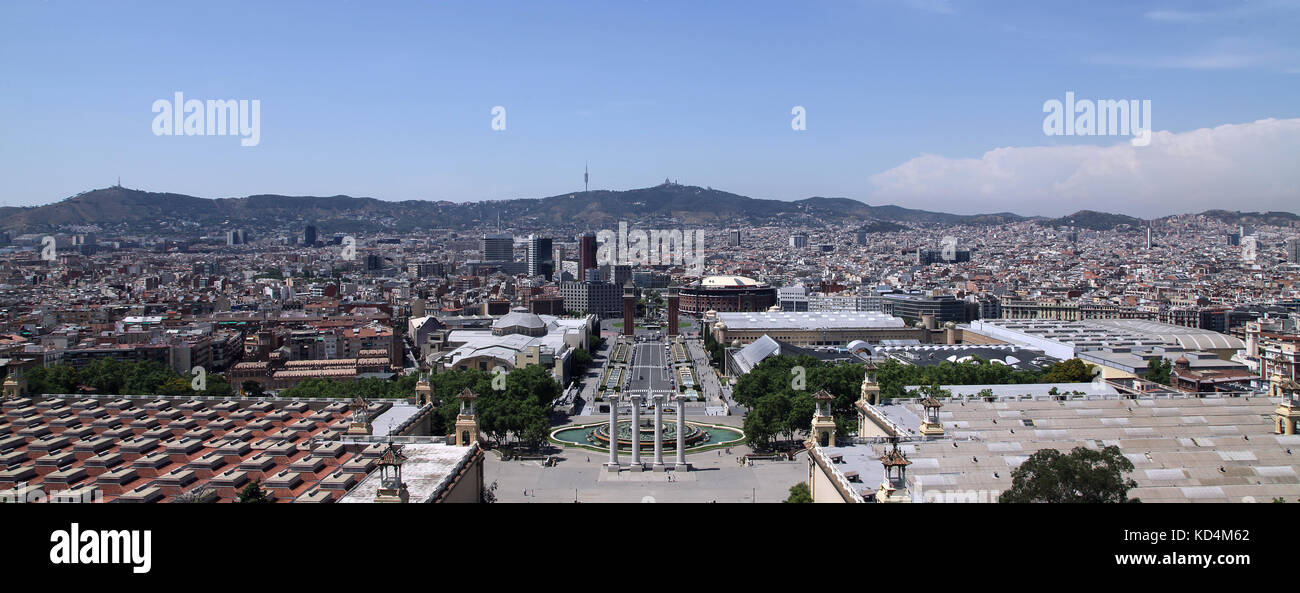 Museu Nacional d'Art de Catalunya Musée National d'Art de Catalogne MNAC Plaza de España Barcelone Photo Stock