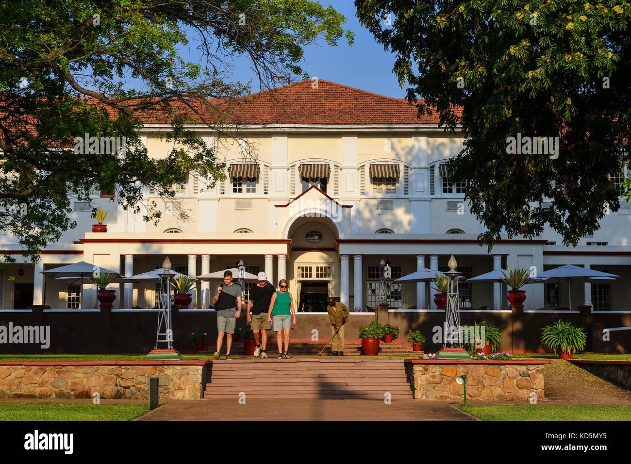 Victoria Falls Hotel, Victoria Falls, Zimbabwe, Afrique du Sud Photo Stock