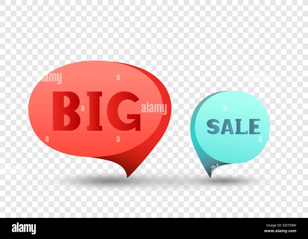 Grand autocollant discount vente set Illustration de Vecteur