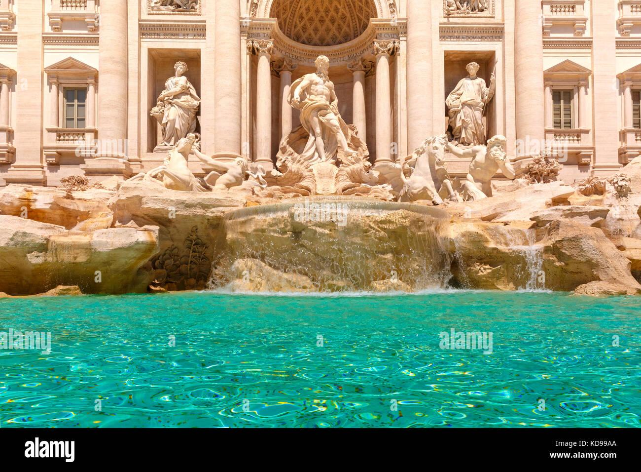 Fontaine de Trevi ou la fontaine de Trevi à Rome, Italie Photo Stock
