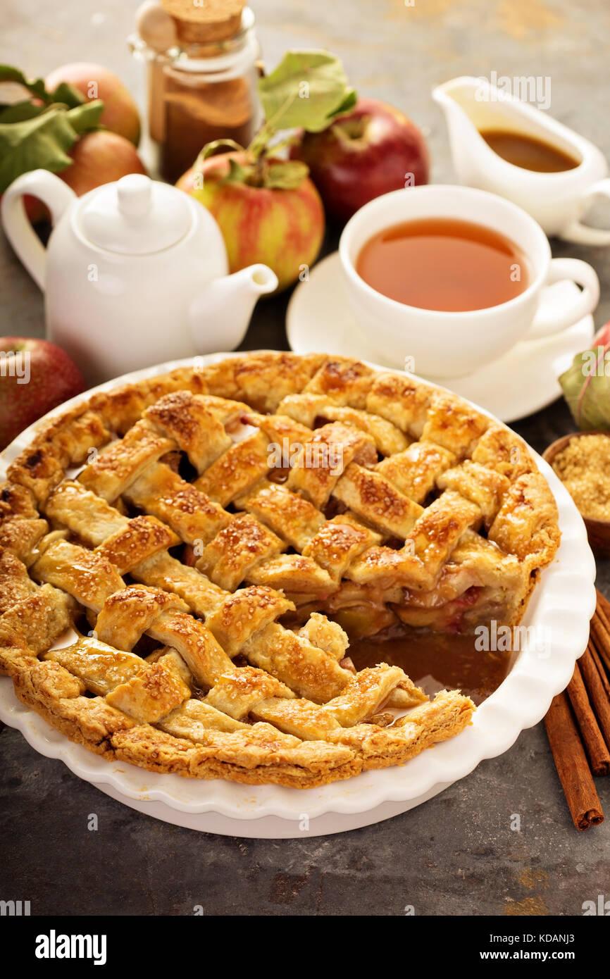 Décorées avec des tartes aux pommes Photo Stock