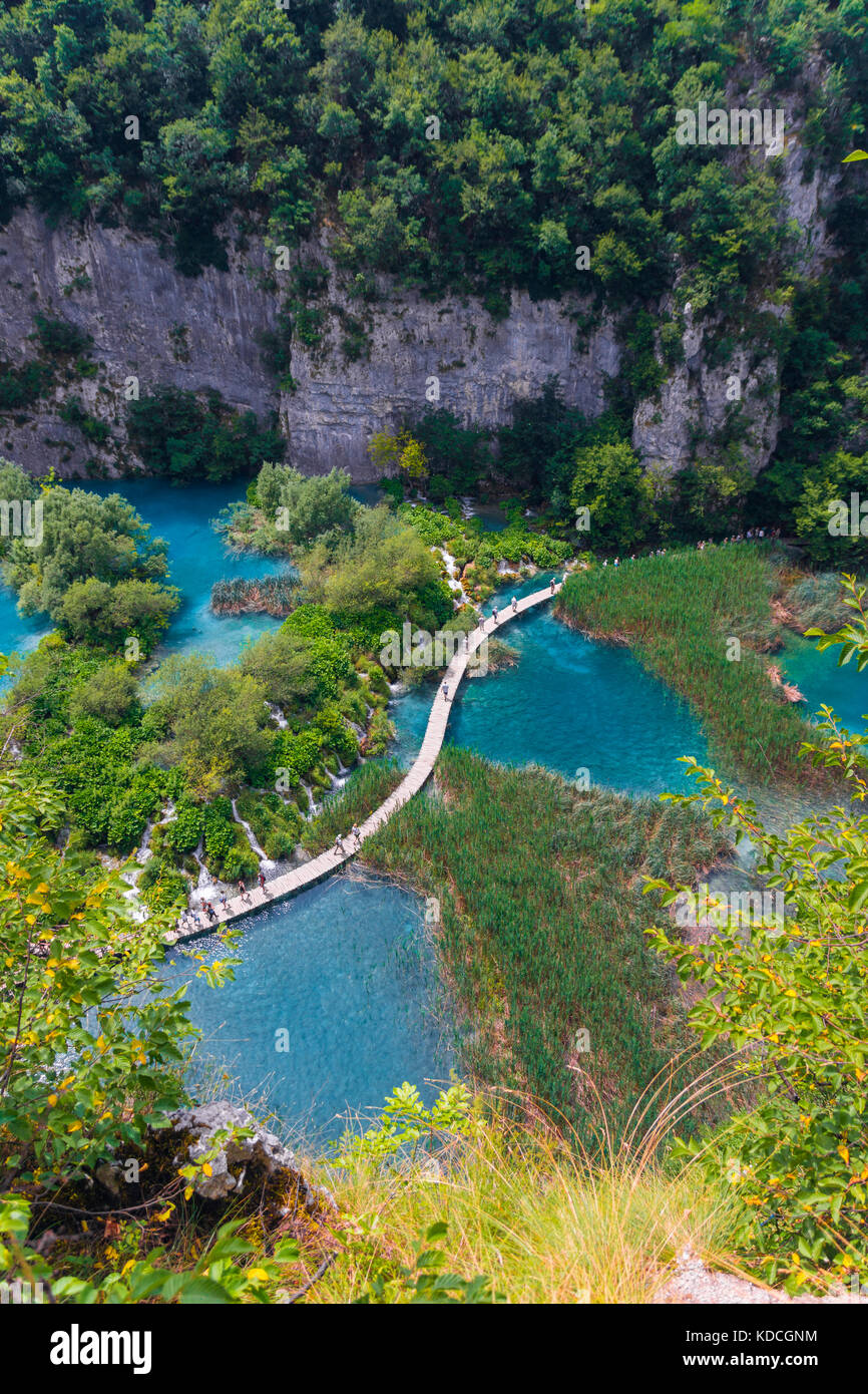 Les lacs de Plitvice, parc national, Croatie Photo Stock