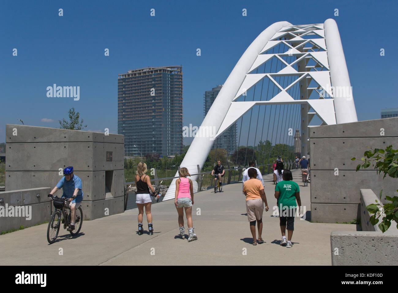 Humber Bridge, Bay, Toronto Banque D'Images