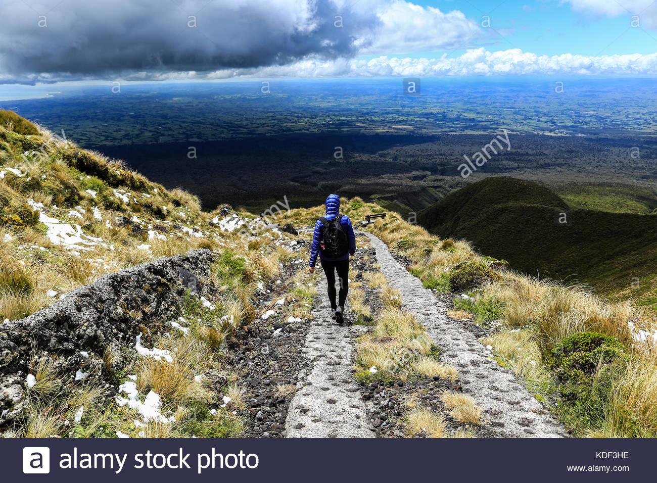 Voyage en solo en Nouvelle Zélande Photo Stock