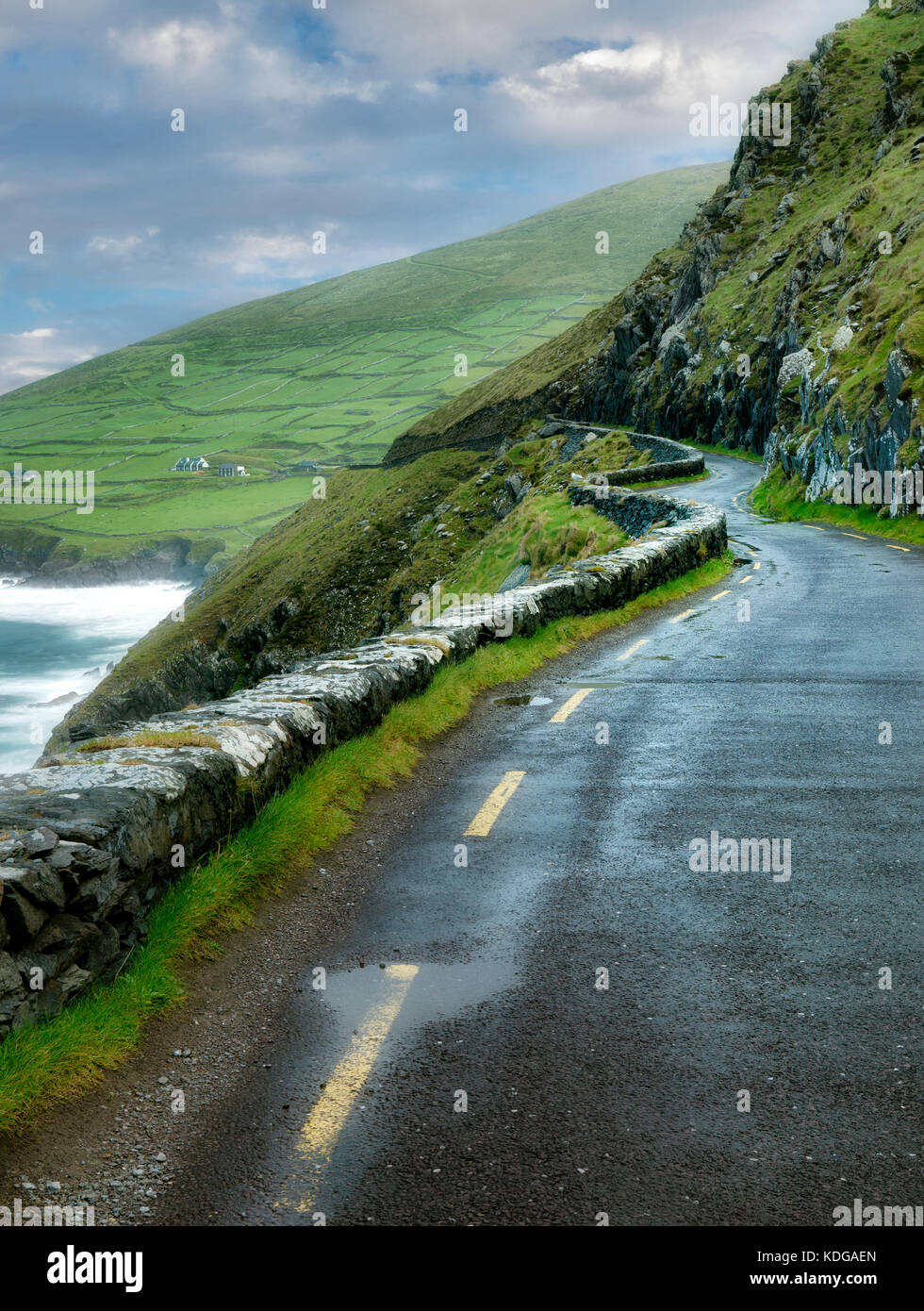 Slea head road. Le comté de Kerry, Irlande Photo Stock