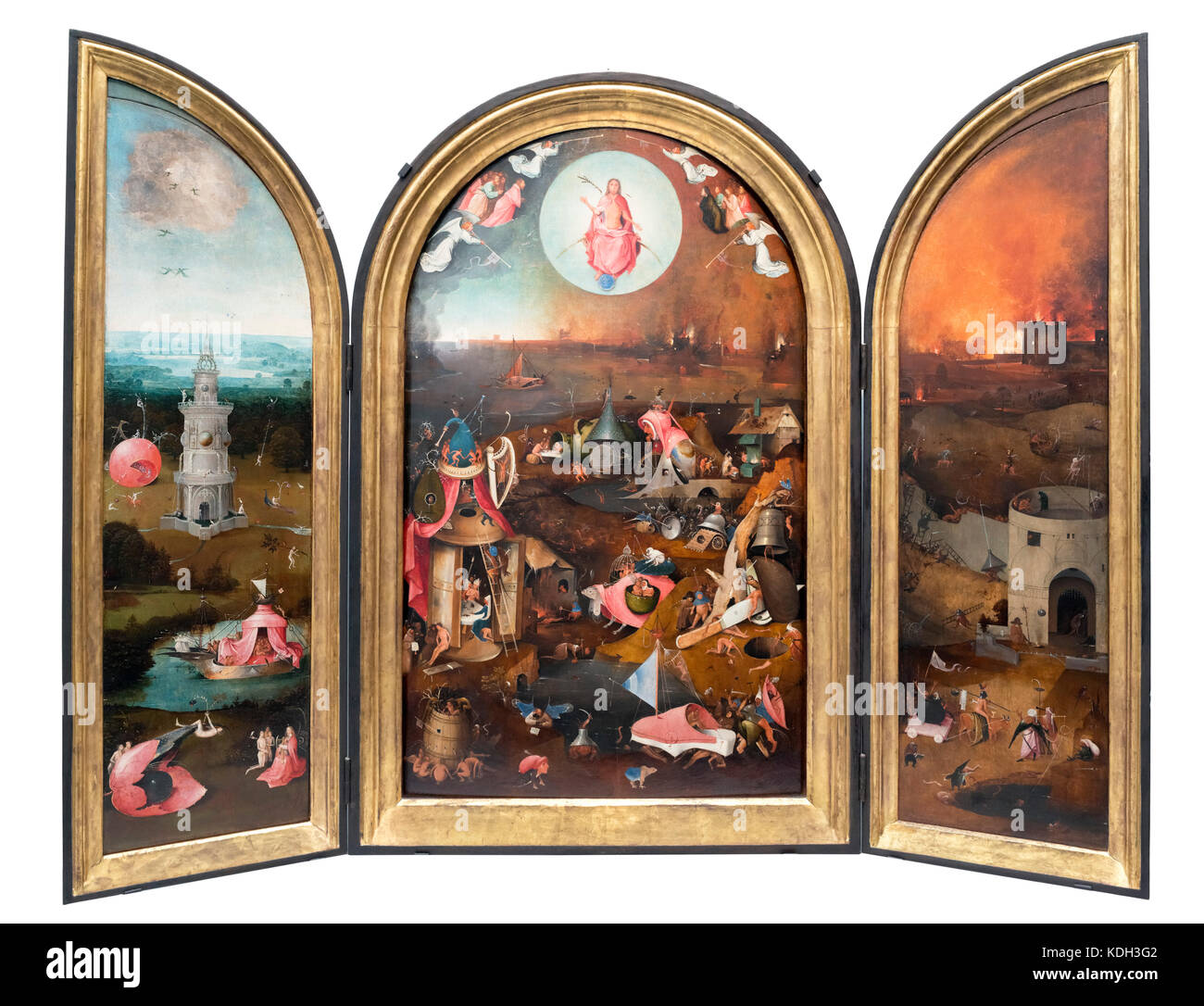 Triptyque du Jugement dernier de Jérôme Bosch (c.1450-1516), huile sur panneau, c.1500-1505. Photo Stock