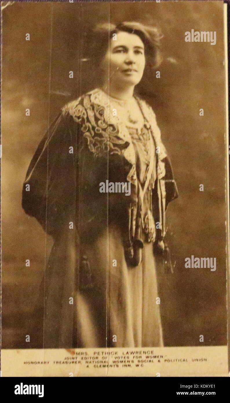 Pethick Lawrence c.1907 Carte Postale 1912 Banque D'Images