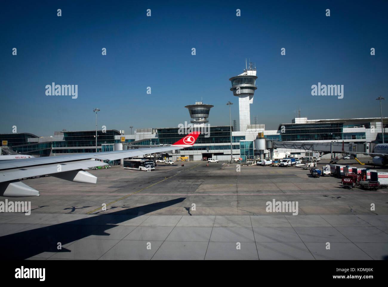 L'aéroport d'Istanbul, Turquie Photo Stock