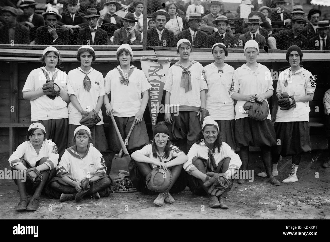 New York Giants baseball féminin, 1913 Photo Stock