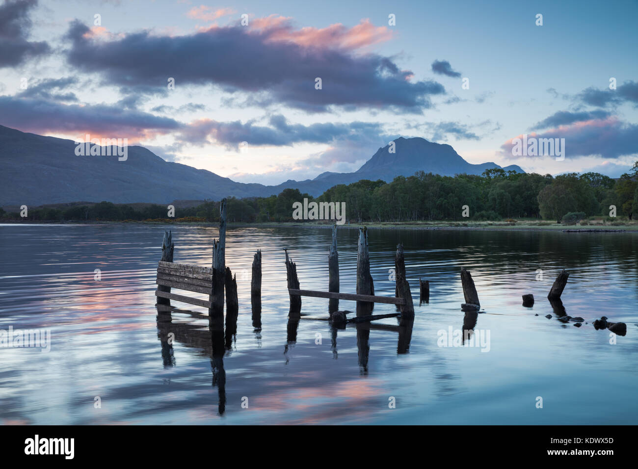 Loch Maree et Slioch, Wester Ross, Scotland, UK Photo Stock