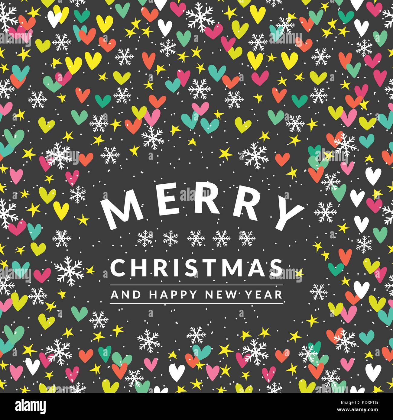 Carte Noël coloré étoile