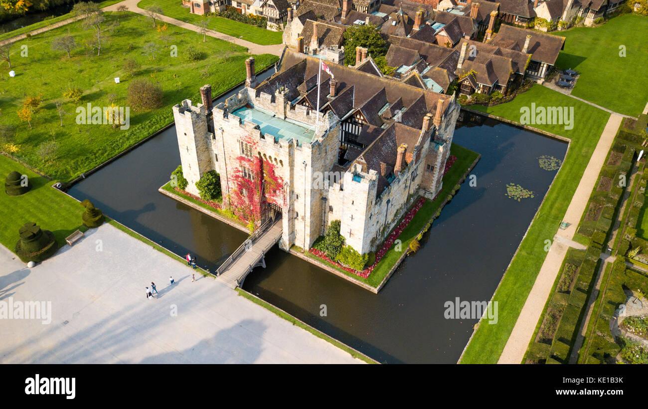 Le château de Hever, Hever, Kent, UK Photo Stock