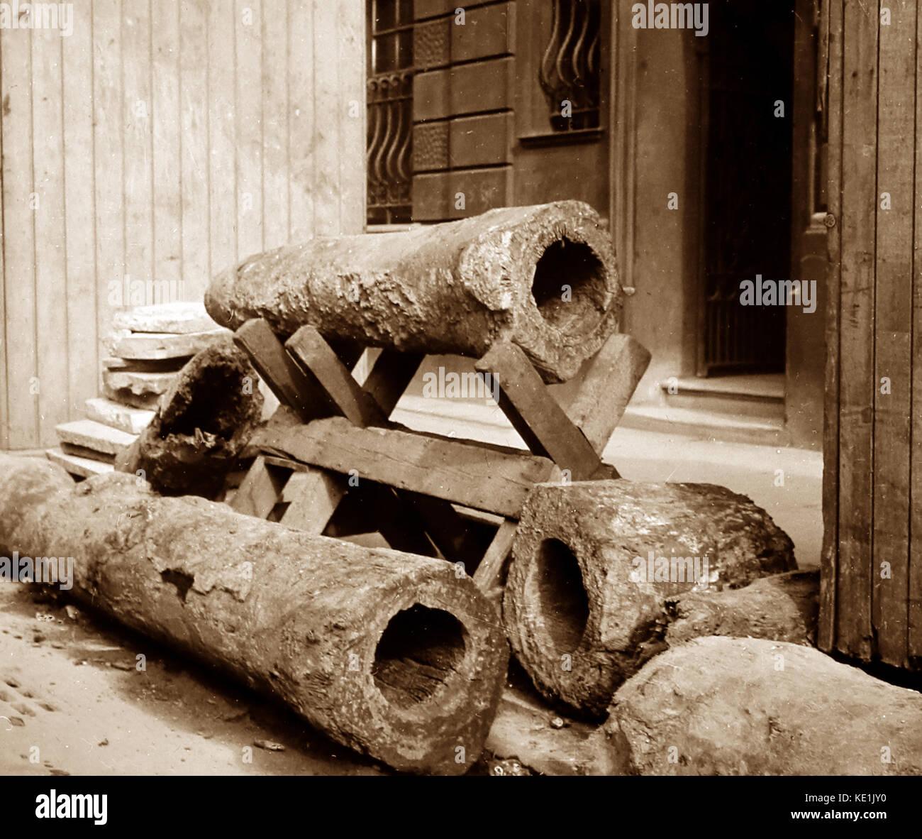 Les tuyaux d'eau en pierre, London, Victoria Photo Stock