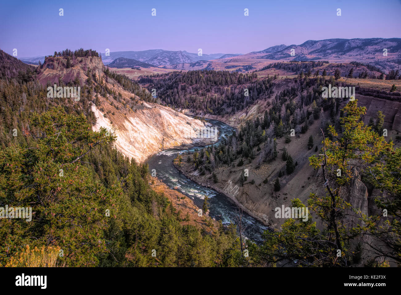 22 août 2017 - Parc national de Yellowstone Photo Stock