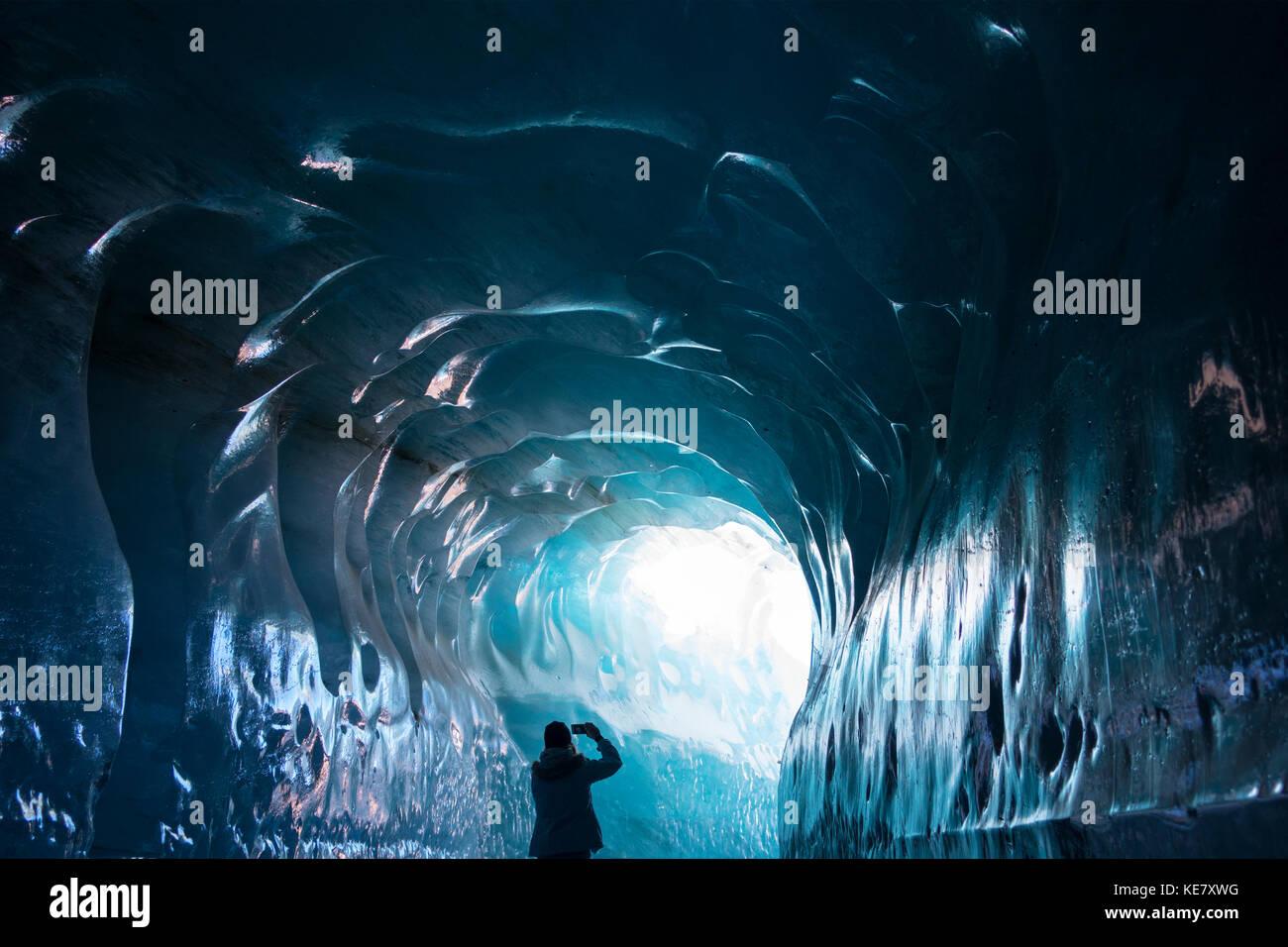 Mer de Glace, Grotte de glace, France Photo Stock