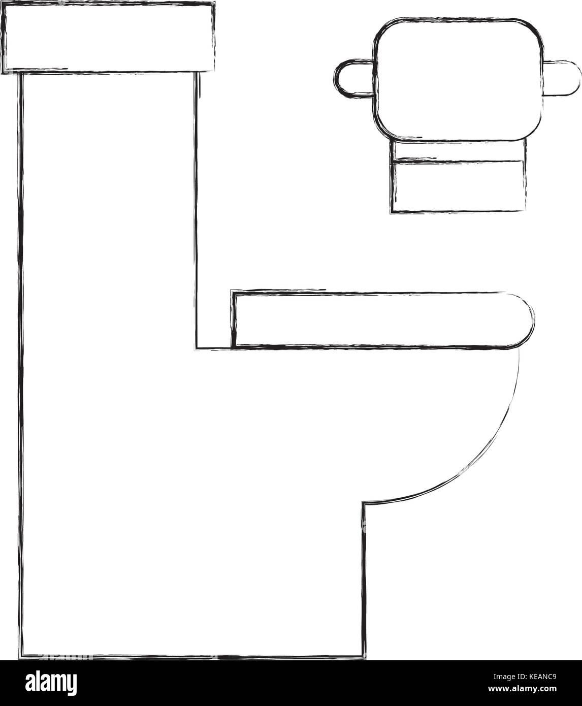 La Cuvette Des Toilettes Avec Du Papier Equipement Hygi Nique