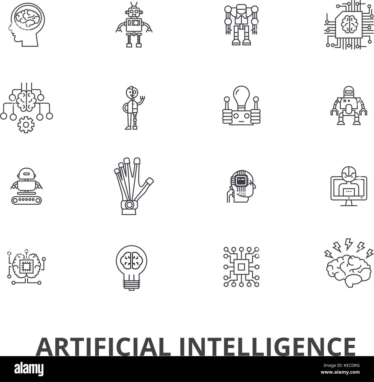 l 39 intelligence artificielle robot cerveau informatique technic cyborg cerveau ic nes de. Black Bedroom Furniture Sets. Home Design Ideas