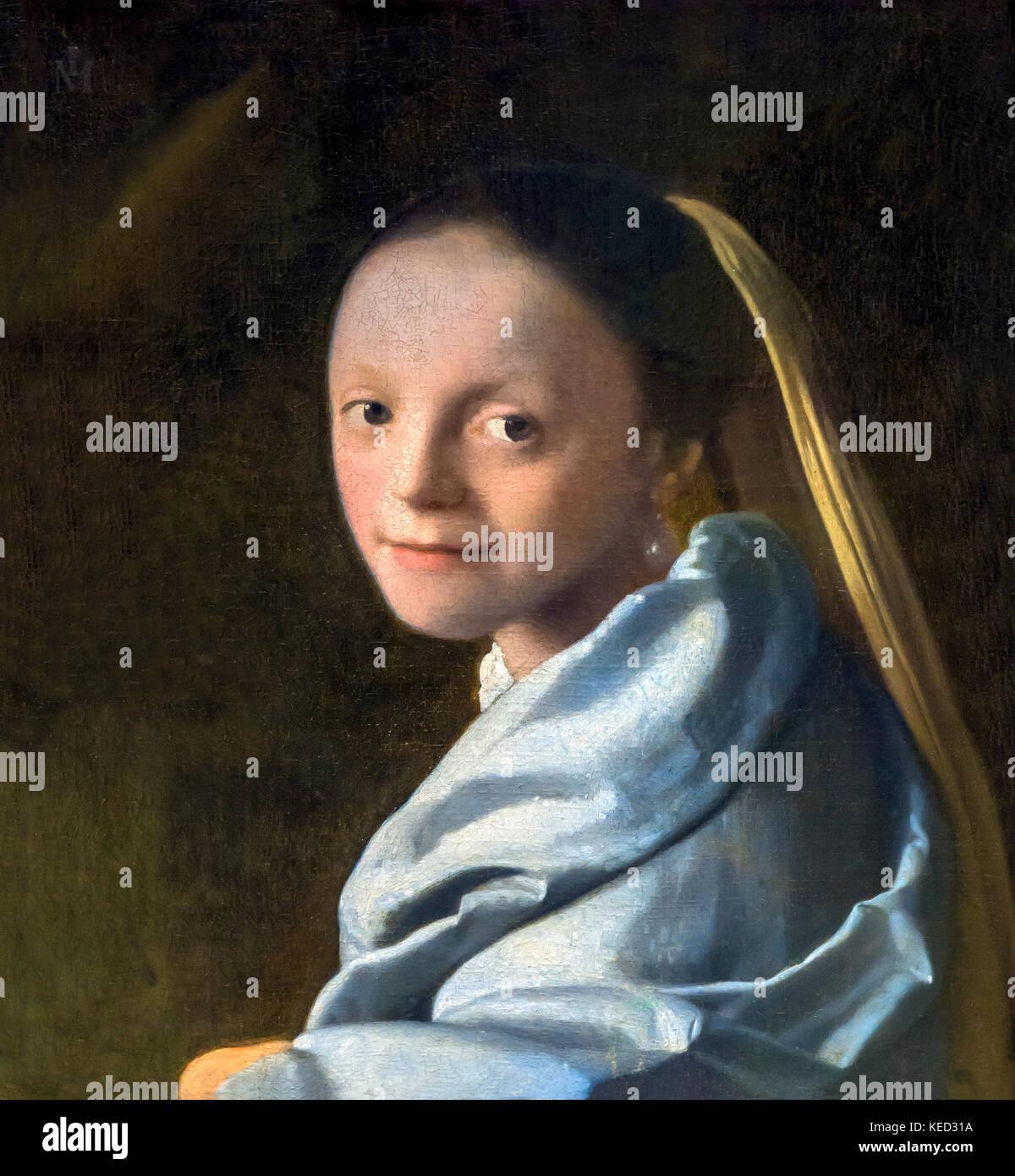 Étude d'une jeune femme, Johannes Vermeer, vers 1665-1667, Metropolitan Museum of Art, Manhattan, New York Photo Stock