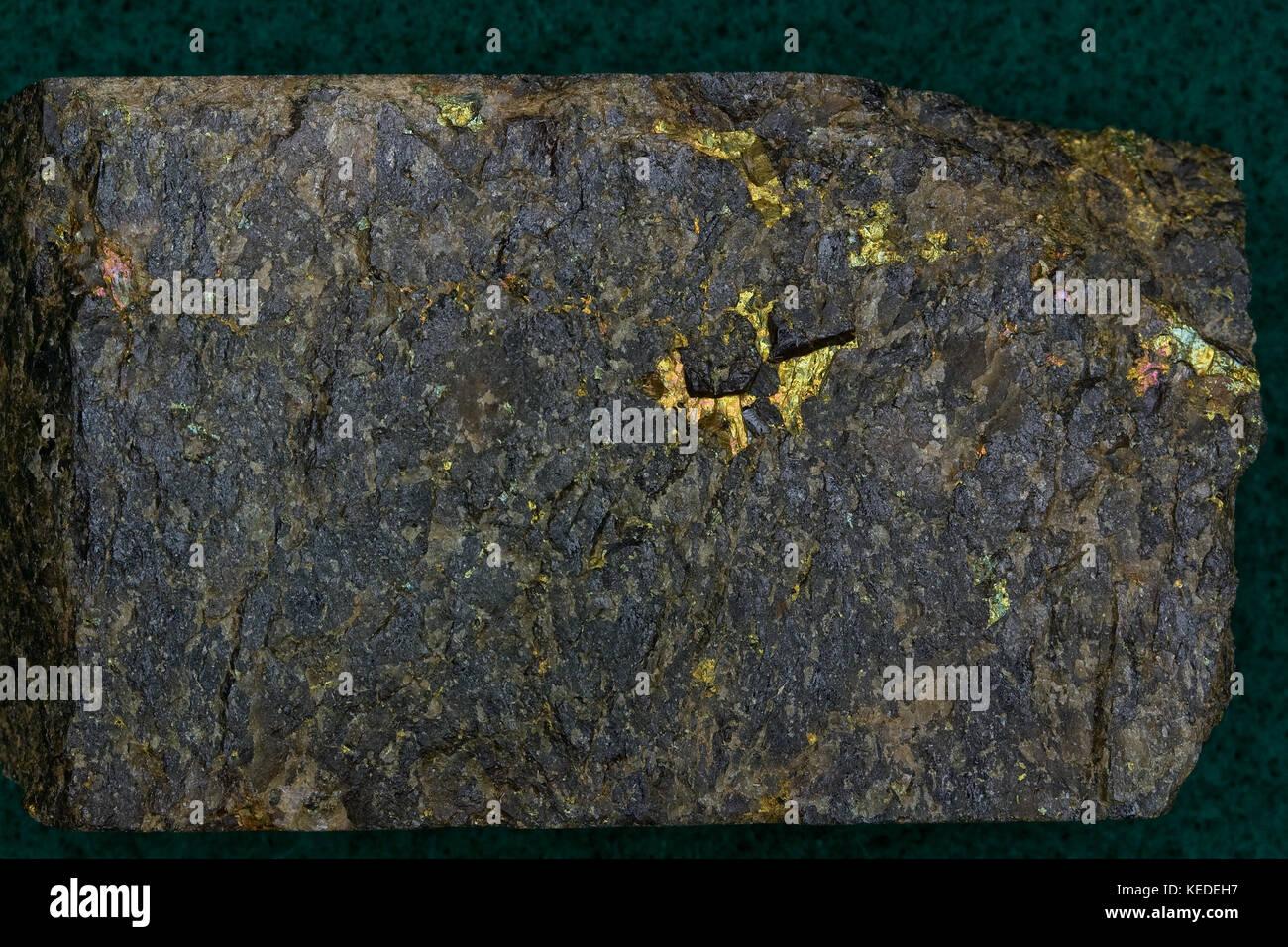 Le minerai d'or de haut grade, de début de désert de Mojave en Californie Gold Mine Banque D'Images